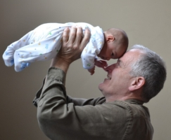 grandparent holding grandchild