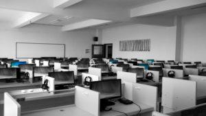 ACT canceled empty classroom
