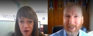 Esme Murphy interviewing Chris Wills WCCO TV